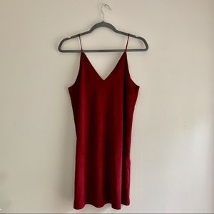 Forever 21 • Faux Suede Spaghetti Strap Dress